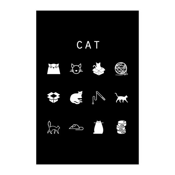 Cat Black Poster - Beacon