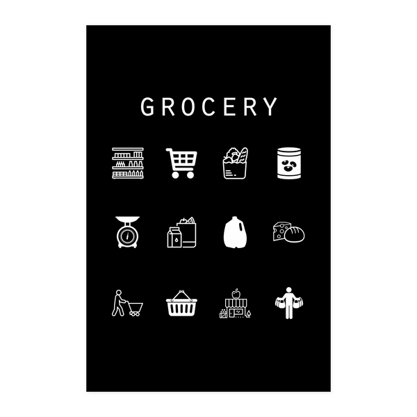 Grocery Black Poster - Beacon