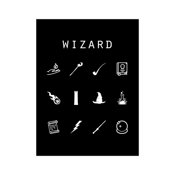 Wizard Black Poster - Beacon