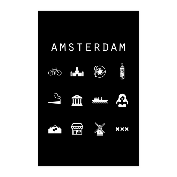 Amsterdam Black Poster - Beacon