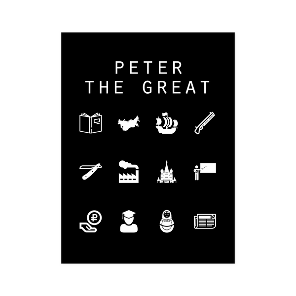 Peter The Great Black Poster - Beacon