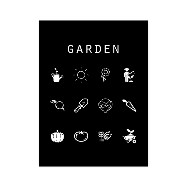Garden Black Poster - Beacon