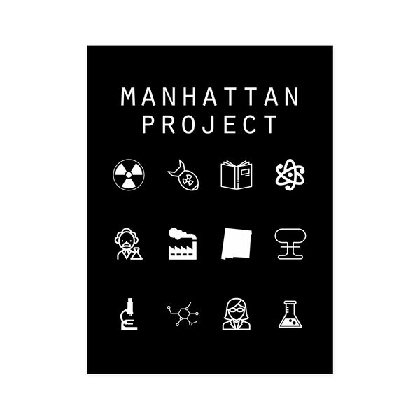 Manhattan Project Black Poster - Beacon