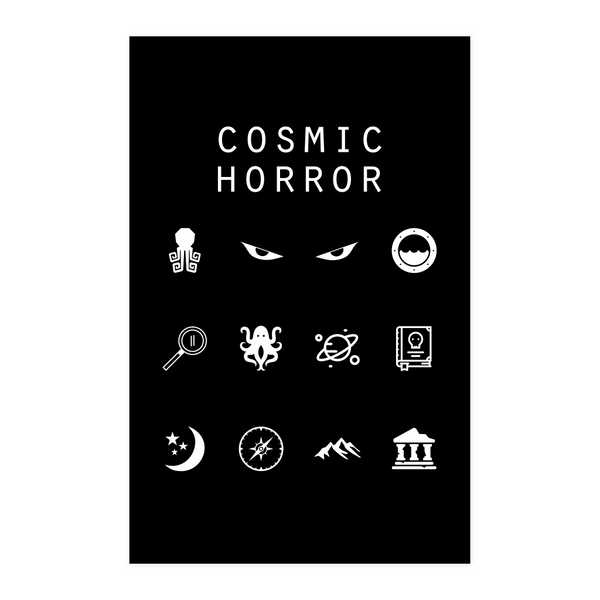 Cosmic Horror Black Poster - Beacon