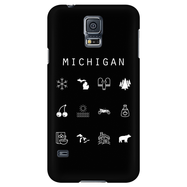Michigan Black Phone Case - Beacon