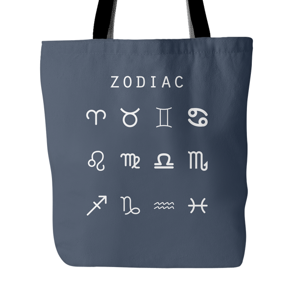 Zodiac (Symbols) Tote Bag - Beacon