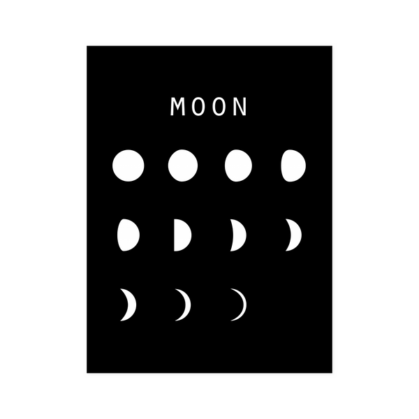 Moon Black Poster - Beacon
