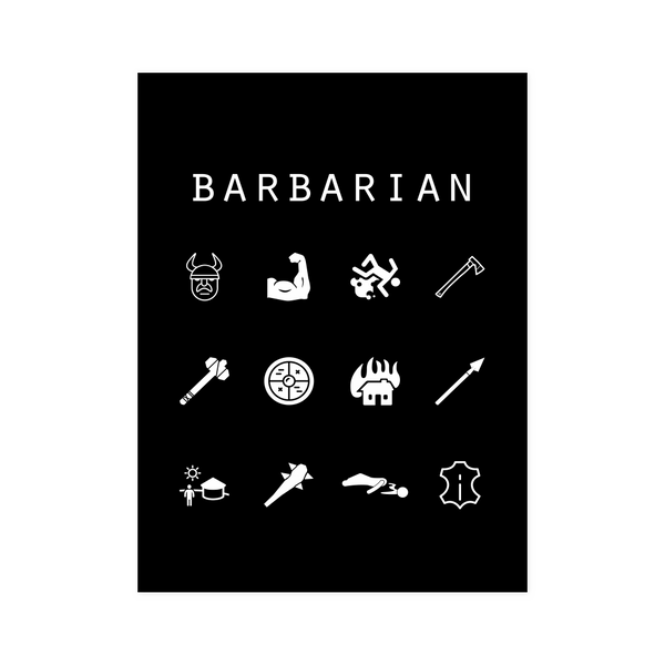 Barbarian Black Poster - Beacon