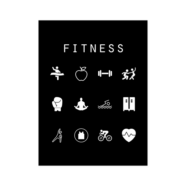 Fitness Black Poster - Beacon