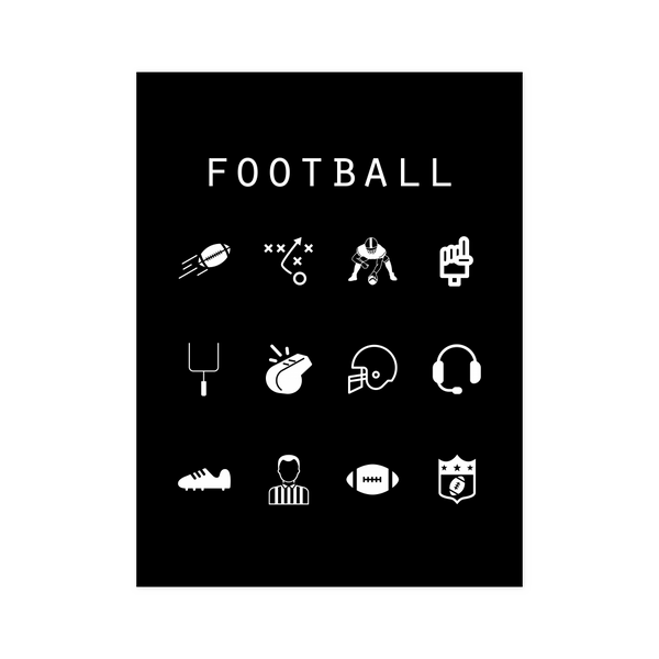 Football Black Poster - Beacon