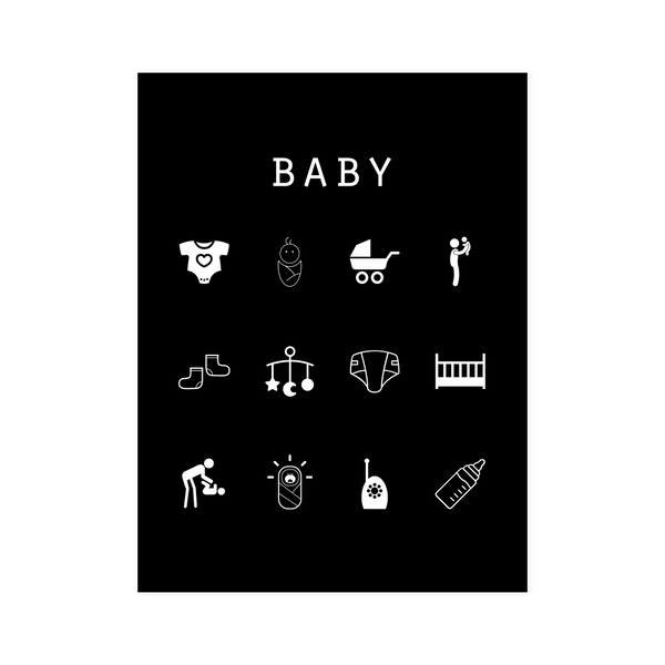Baby Black Poster - Beacon