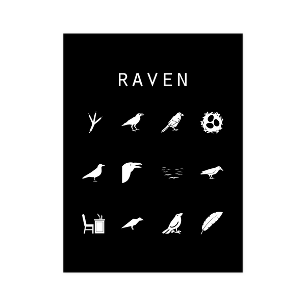 Raven Black Poster - Beacon