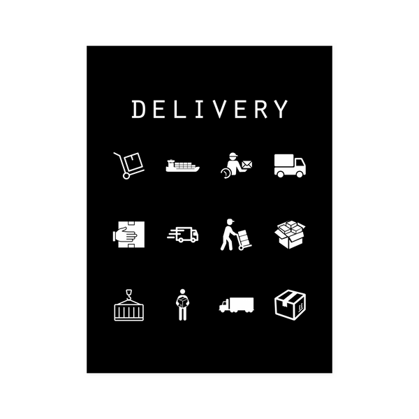 Delivery Black Poster - Beacon