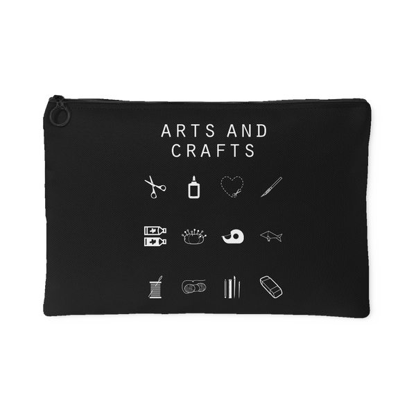 Arts and Crafts Black Accessory Pouch - Beacon