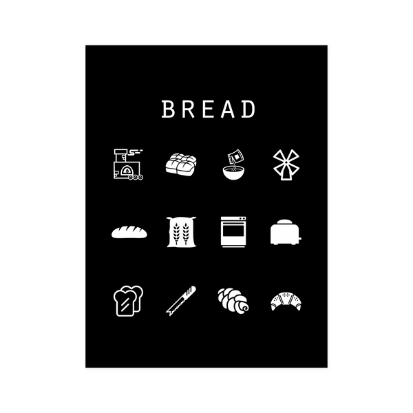 Bread Black Poster - Beacon