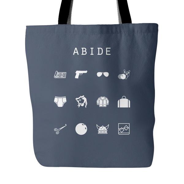 Abide (The Big Lebowski) Tote Bag - Beacon