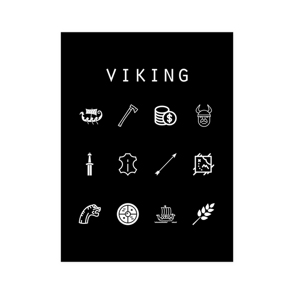 Viking Black Poster - Beacon