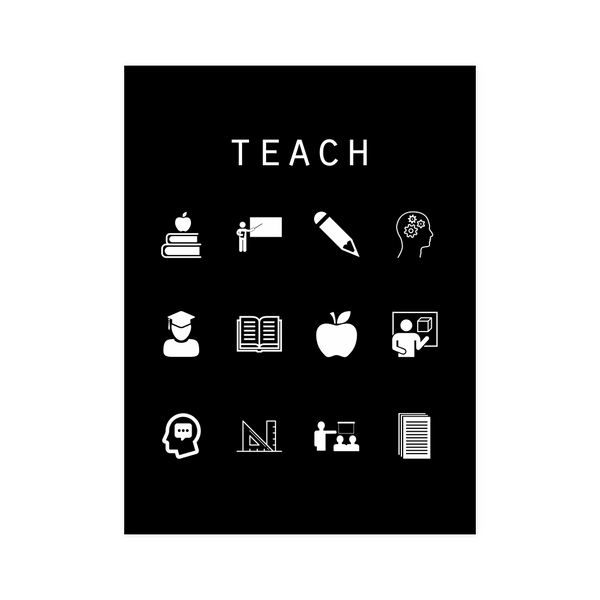 Teach Black Poster - Beacon