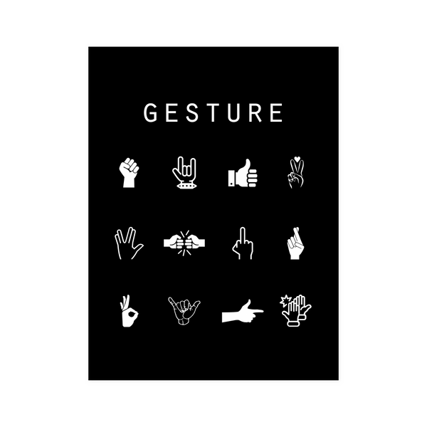 Gesture Black Poster - Beacon