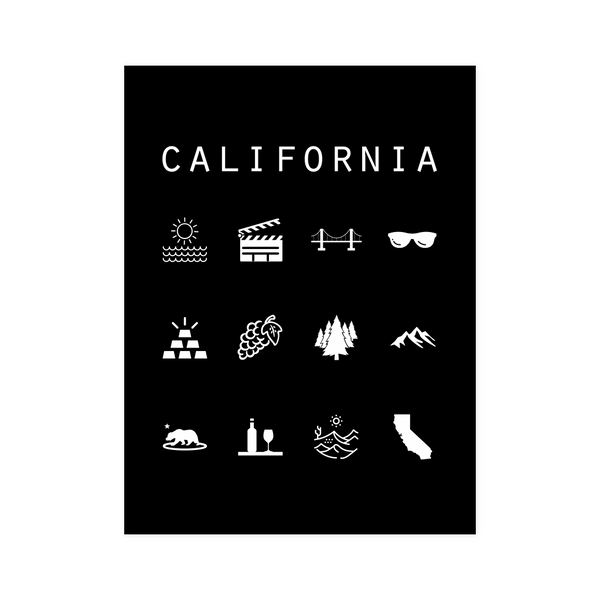 California Black Poster - Beacon
