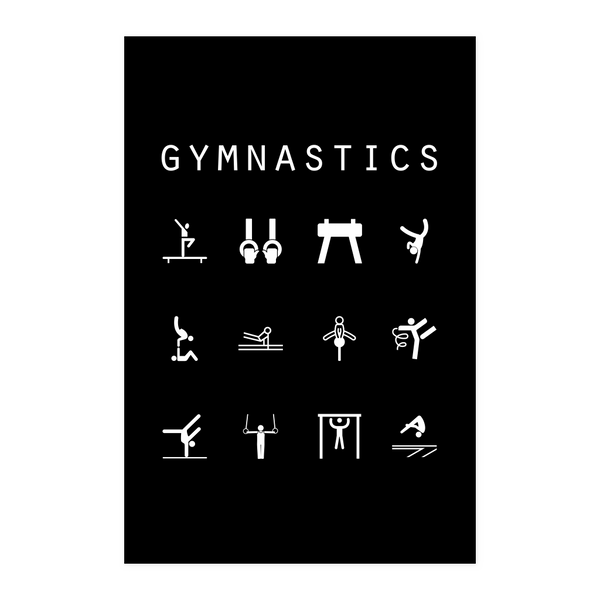 Gymnastics Black Poster - Beacon