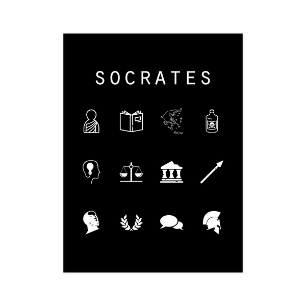 Socrates Black Poster - Beacon