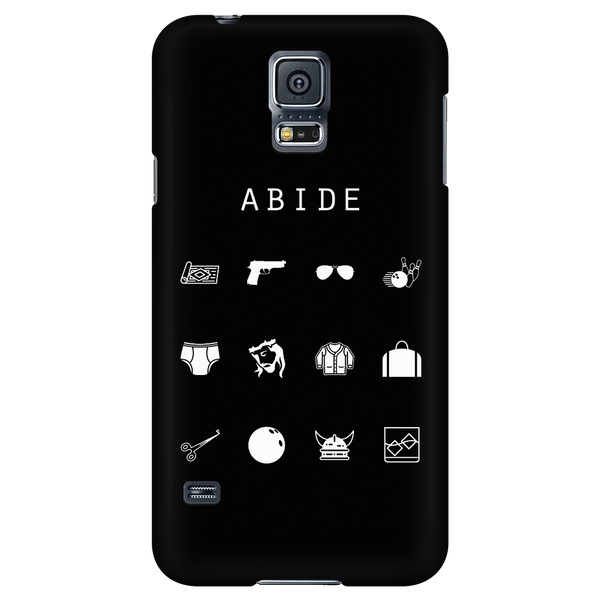Abide (The Big Lebowski) Black Phone Case - Beacon