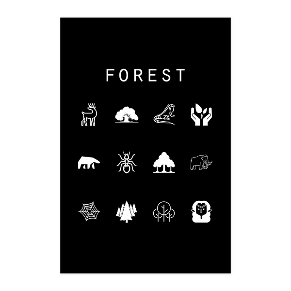 Forest (MTG) Black Poster - Beacon