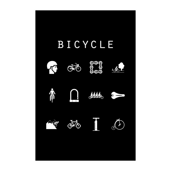 Bicycle Black Poster - Beacon