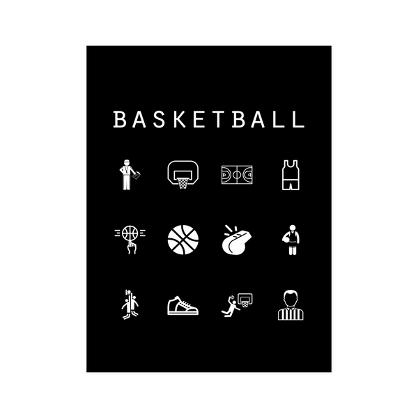 Basketball Black Poster - Beacon