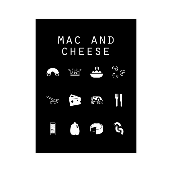 Mac and Cheese Black Poster - Beacon