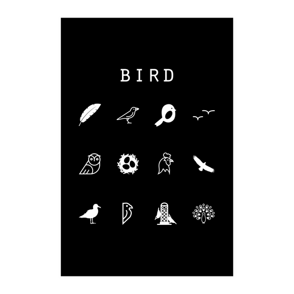 Bird Black Poster - Beacon