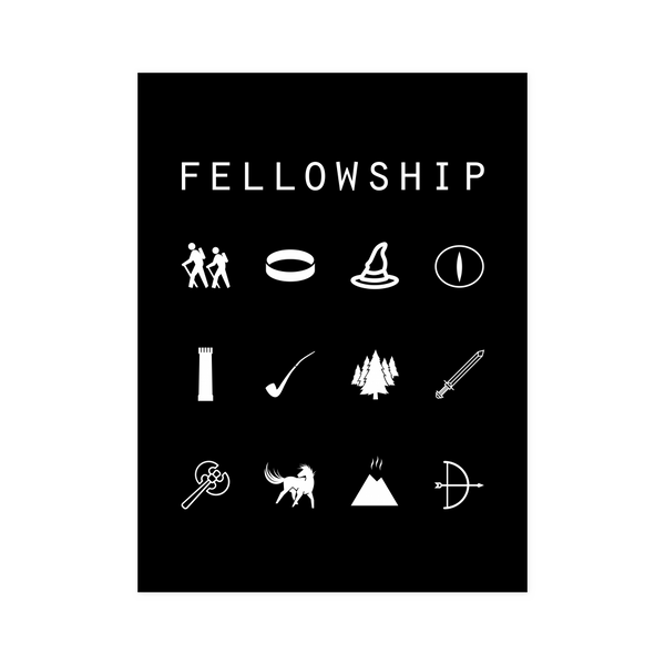 Fellowship (Lord of the Rings) Black Poster - Beacon