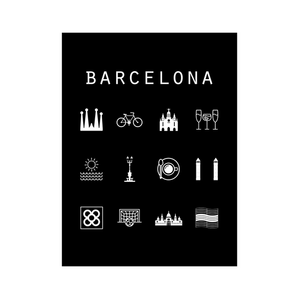 Barcelona Black Poster - Beacon