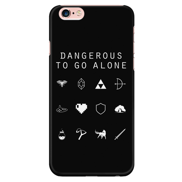 Dangerous To Go Alone (Legend of Zelda) Black Phone Case - Beacon