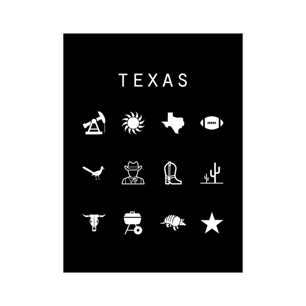Texas Black Poster - Beacon