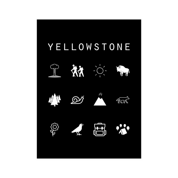 Yellowstone Black Poster - Beacon