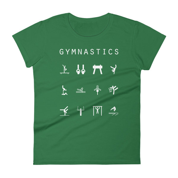 Gymnastics Fitted Women's T-Shirt - Beacon