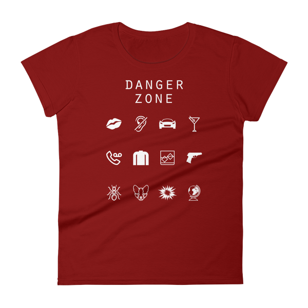 Danger Zone (Archer) Fitted Women's T-Shirt - Beacon