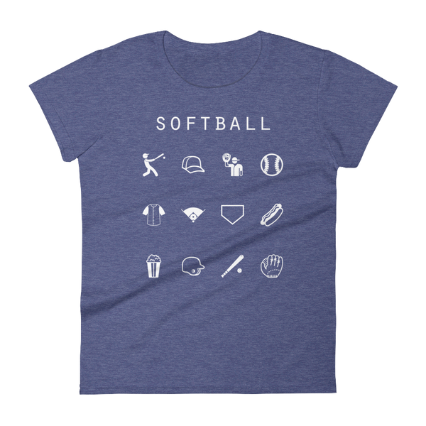 Softball Fitted Women's T-Shirt - Beacon