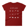 Airplane Fitted Women's T-Shirt - Beacon