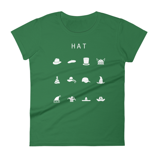 Hat Fitted Women's T-Shirt - Beacon