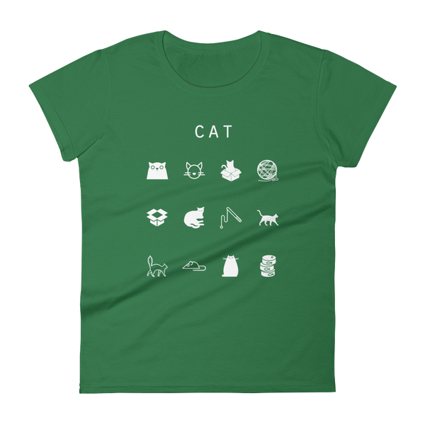 Cat Fitted Women's T-Shirt - Beacon