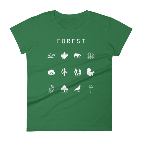 Forest Fitted Women's T-Shirt - Beacon