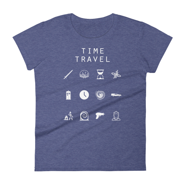 Time Travel Fitted Women's T-Shirt - Beacon