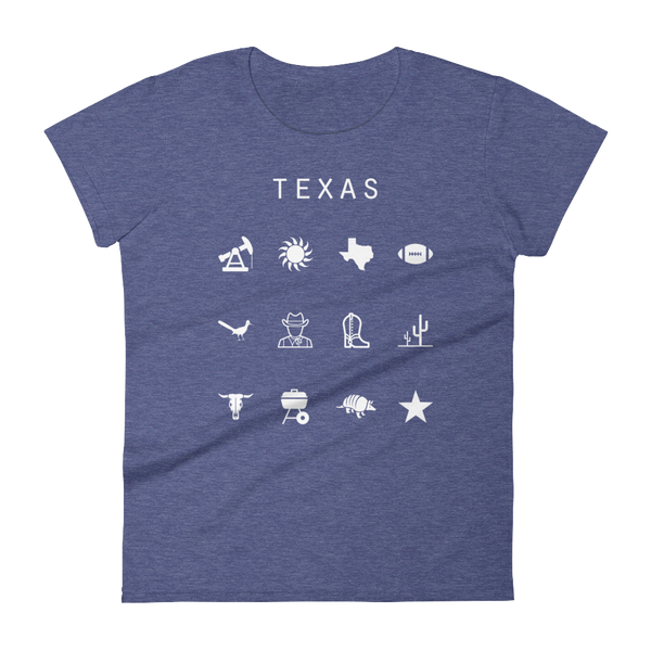 Texas Fitted Women's T-Shirt - Beacon