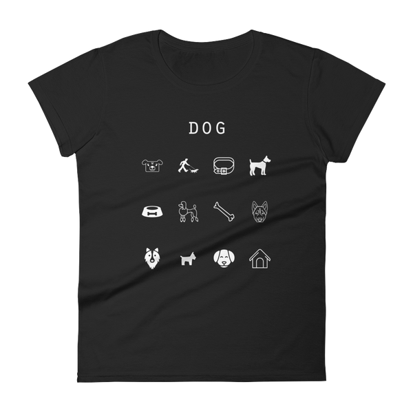 Dog Fitted Women's T-Shirt - Beacon