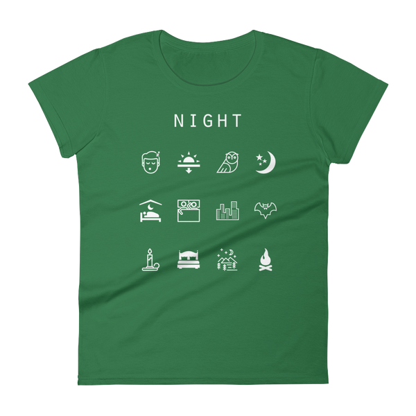 Night Fitted Women's T-Shirt - Beacon