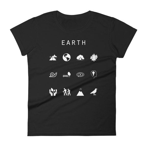 Earth Fitted Women's T-Shirt - Beacon
