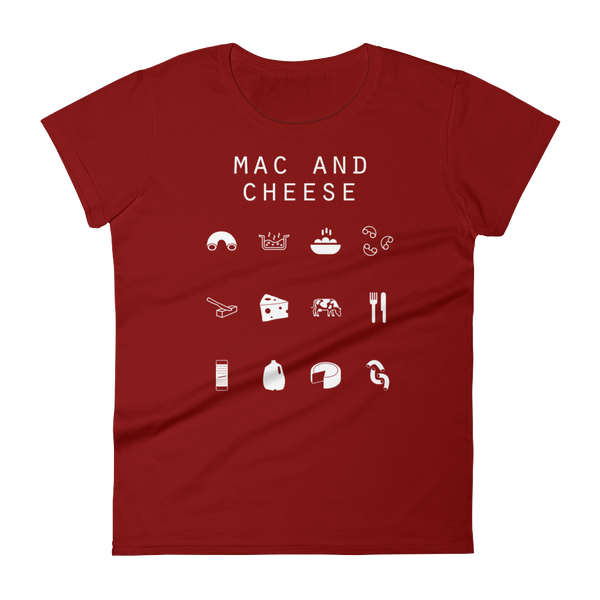 Mac and Cheese Fitted Women's T-Shirt - Beacon